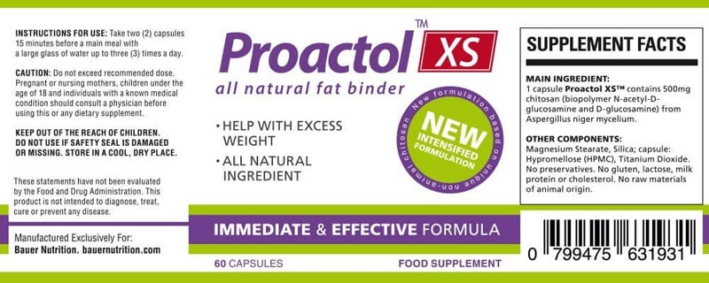 Proactol XS Ingredients List
