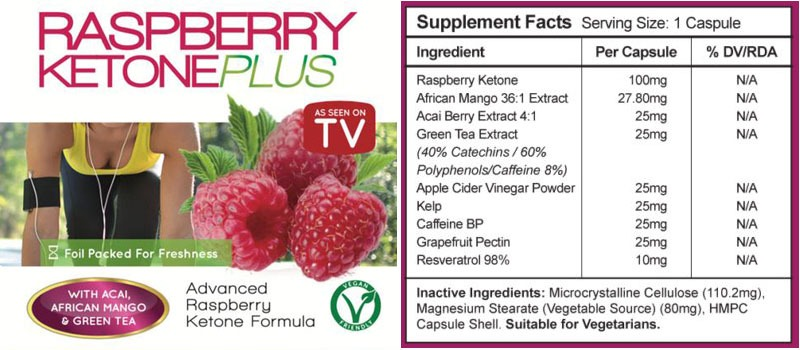 Natural Raspberry Ketone Plus Ingredients